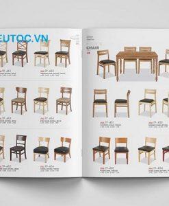 Mẫu cataloge sản phẩm nội thất bàn ghế