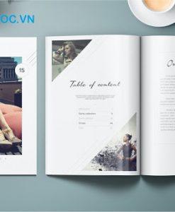 mẫu catalogue về thời trang nền màu trắng