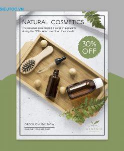 tờ rơi mỹ phẩm natural cosmetics