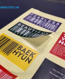 Decal sticker dễ dàng thay thế