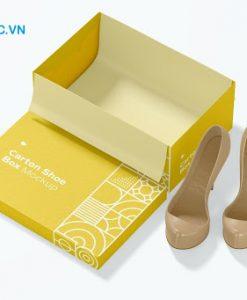 Nhận in hộp carton đựng giày HCM