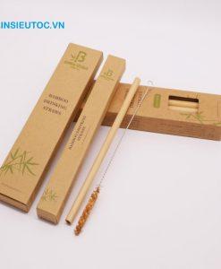 Mẫu hộp giấy kraft đựng ống hút