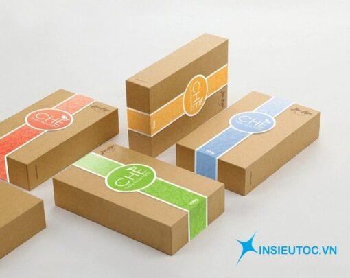mẫu hộp giấy kraft hình chữ nhật