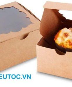 hộp giấy kraft đựng bánh