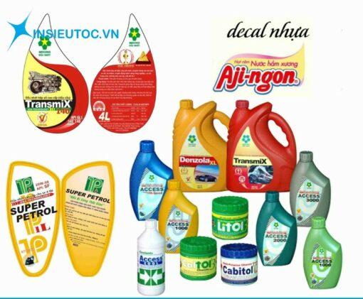 Thiết kế in decal nhựa chất lượng tốt nhất