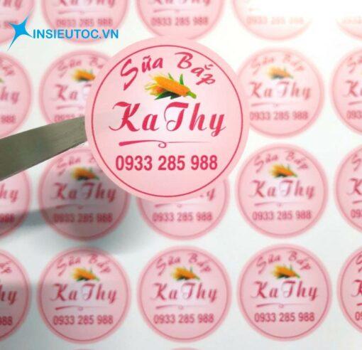 sticker bằng decal sữa đẹp