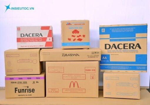 in thùng carton số lượng ít