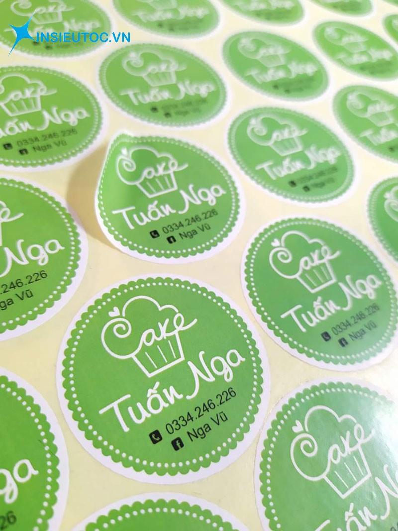 In sticker cho tiệm bánh số lượng ít