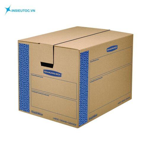 Mẫu thùng carton có khoét lỗ cầm tay