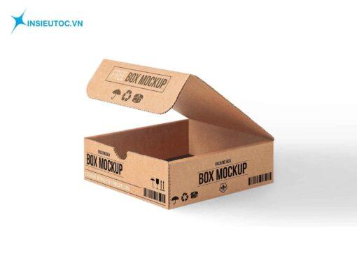 Mẫu hộp giấy carton cỡ nhỏ dạng gấp