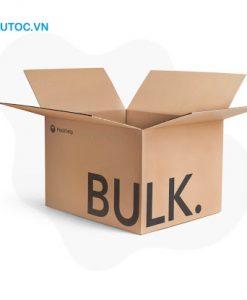 Thùng carton in chữ đơn giản