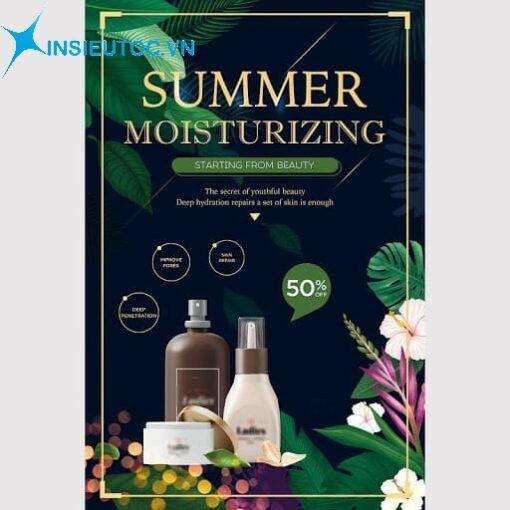 tờ rơi mỹ phẩm dưỡng ẩm mùa hè