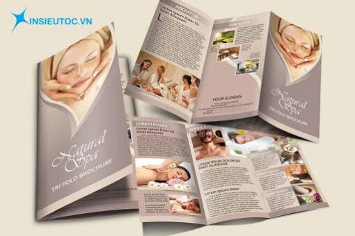 Mẫu catalogue spa sử dụng nền màu nude