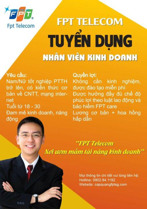 poster tuyển dụng nhân viên kinh doanh