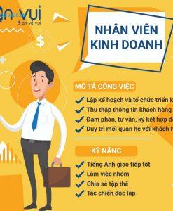 mẫu poster tuyển dụng nhân viên văn phòng