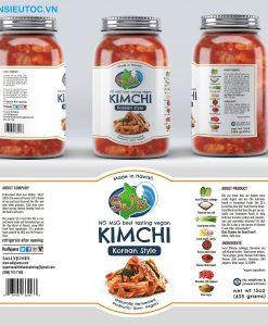 nhãn mác thực phẩm hũ kim chi