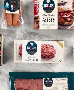 nhãn mác cho hộp thực phẩm đông lạnh