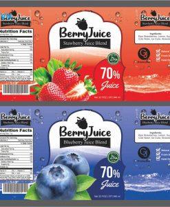 mẫu nhãn mác cho nước trái cây