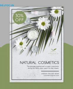 tờ rơi mỹ phẩm giảm giá mỹ phẩm natural cosmetic