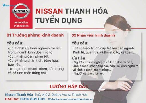 poster tuyển dụng của công ty nissan