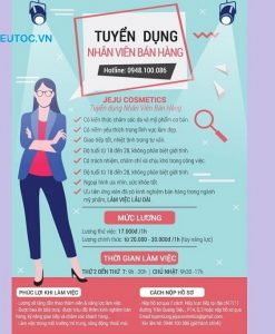 poster tuyển dụng sales
