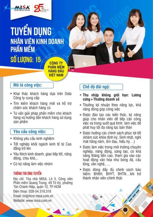 Poster tuyển dụng chi tiết các thông tin cần thiết