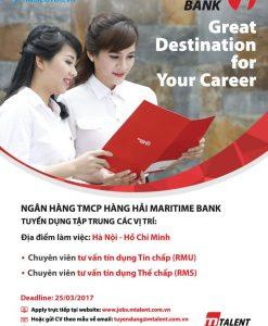 Mẫu tuyển dụng nhân viên ngân hàng