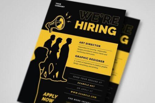 mẫu tờ rơi quảng cáo tuyển dụng