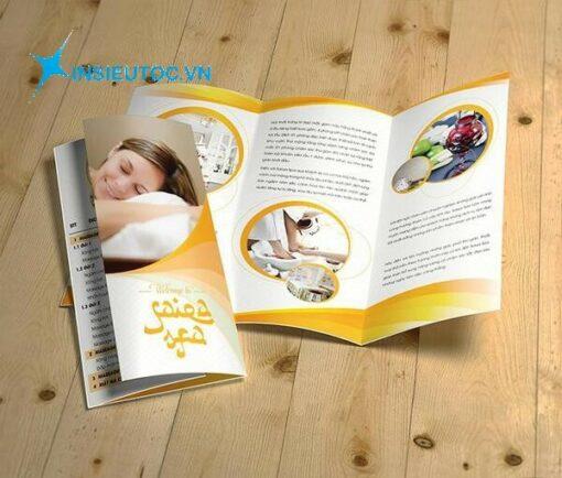 catalogue spa thiết kế đơn giản, chú trọng vào phối màu