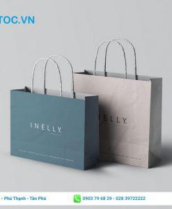 Túi giấy đơn giản dành cho shop thời trang