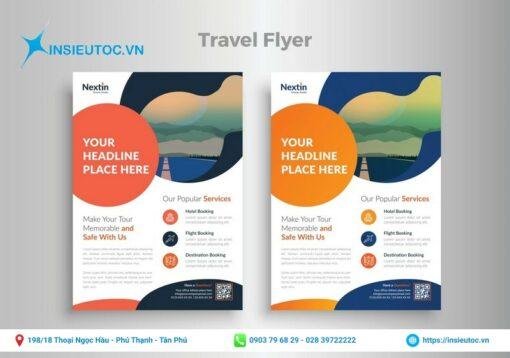 beautiful travel flyer