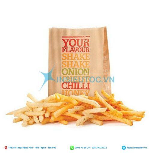 túi giấy thực phẩm, thức ăn nhanh
