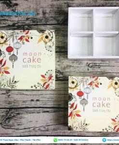 Hộp giấy đựng bánh moon cake họa tiết