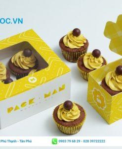 Hộp giấy đựng bánh cupcake đơn giản