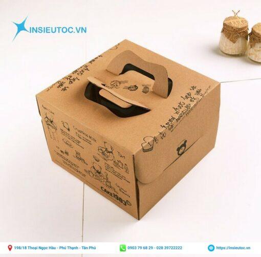 Sử dụng giấy kraft để làm hộp đựng bánh