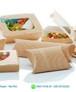 hộp giấy đựng thức ăn thiết kế đơn giản