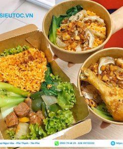 hộp giấy đựng thức ăn nóng, thức ăn nhanh