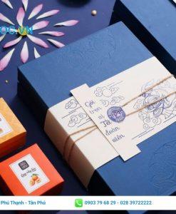 Hộp giấy cao cấp phối hợp nhiều màu sắc