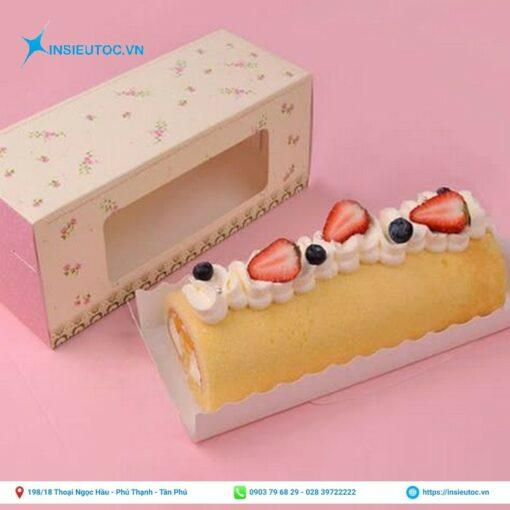 hộp giấy đựng bánh bông lan giá rẻ tphcm