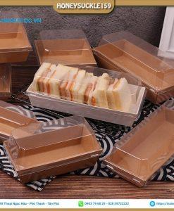 Khay giấy đựng bánh sandwich