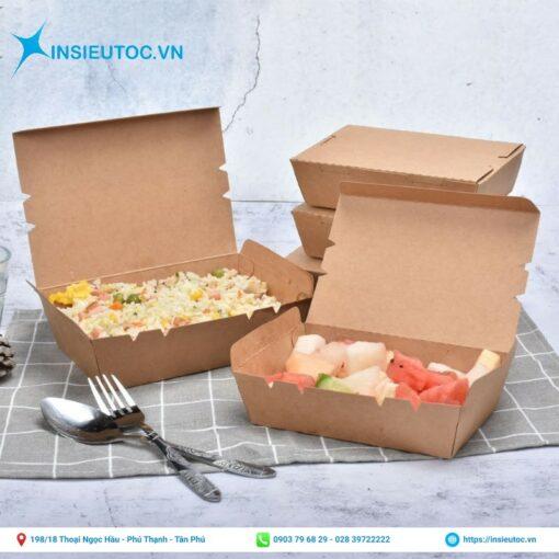 Nhận sản xuất hộp giấy đựng thức ăn chất lượng