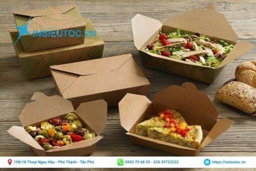 in hộp giấy đựng thức ăn đẹp