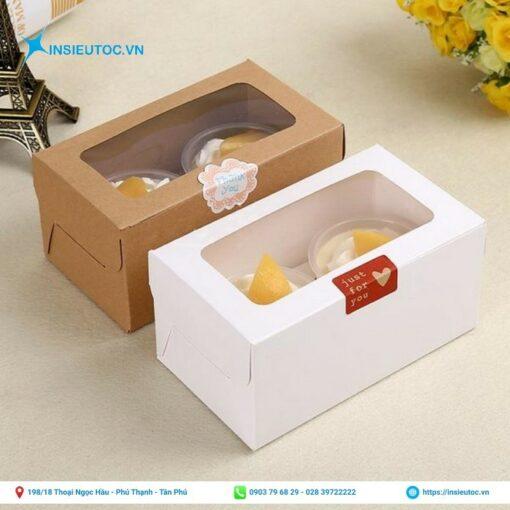 hộp giấy đựng bánh không in