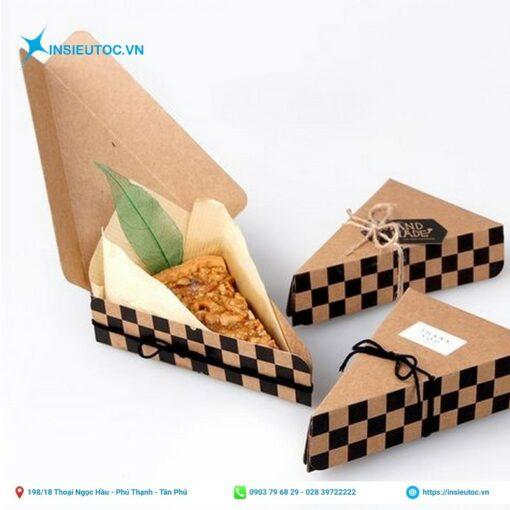 Hộp giấy đựng bánh hình tam giác