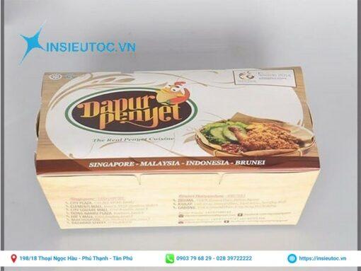 Mẫu in hộp giấy đựng thức ăn