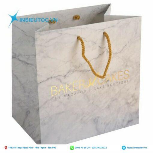 Túi giấy cao cấp với họa tiết