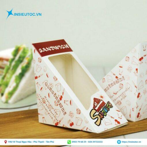 hộp giấy hình tam giác