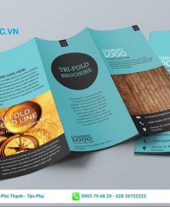 kích thước brochure gấp 3 cực chuẩn