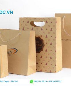 Túi giấy kraft in họa tiết