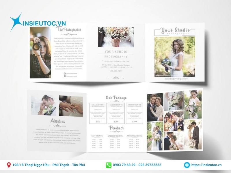 mẫu brochure gấp 3